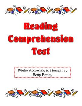 Comprehension Test - Winter According to Humphrey (Birney)