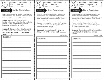 Comprehension Tri-Fold - Pinky and Rex and the Spelling Be