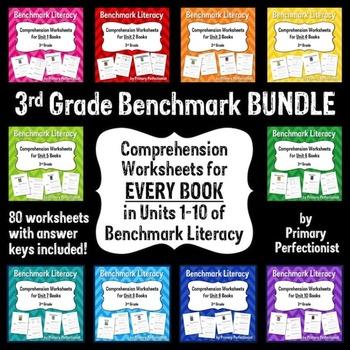 Comprehension Worksheets for Benchmark Literacy - Grade 3