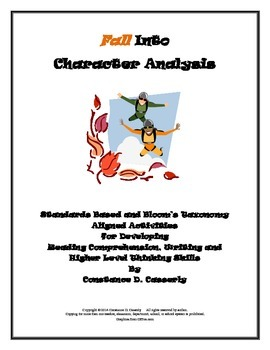 Character Analysis Activities: Falling Into Character