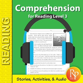 Comprehension for Reading Level 3 (Stories, Activities, &