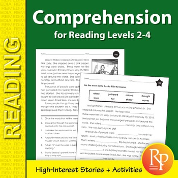 Comprehension for Reading Levels 2-4