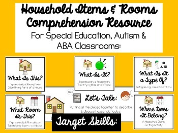 Comprehension of Household Items Resource for Autism, ABA