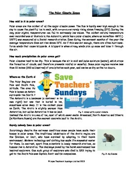 Comprehension on Polar climates (4 levels of difficulty)