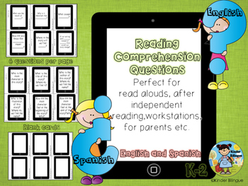 Comprehension questions in English and Spanish