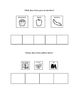Comprehension questions with visuals for Apple Farmer Anni