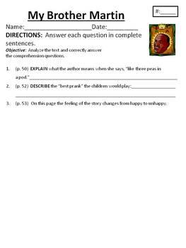 Comprehension/Vocab. for Houghton Mifflin Journeys Unit 1
