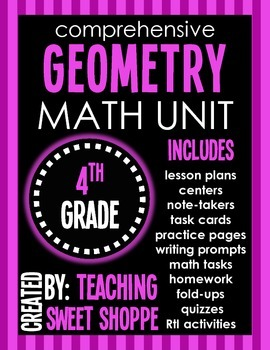 Comprehensive Geometry Unit for 4th Grade