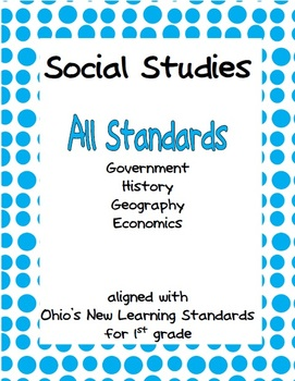 Comprehensive Social Studies Unit for 1st Grade: Covers Al