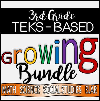 HUGE Third Grade TEKS - Aligned GROWING Product Bundle