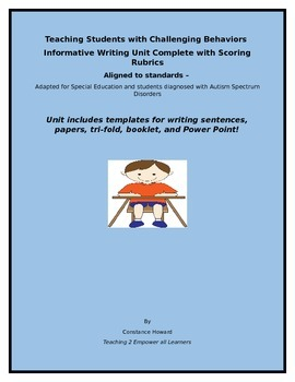 Teaching Students with Challenging Behaviors  Informative Writing