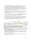 Comprehesion,Tally Sheet to measure reading comprehension