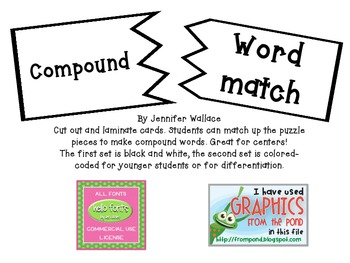 Compund Words Center Activity
