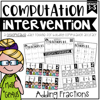 Adding Fractions {Task Cards, Intervention, and Homework}