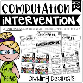 Dividing Decimals {Task Cards, Intervention, and Homework}