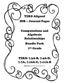 Computations and Algebraic Relationships INB Bundle Pack -