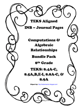 Computations and Algebraic Relationships INB Bundle Pack -