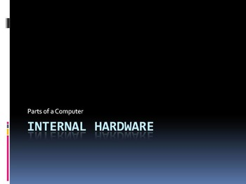 Computer Internal Hardware Introduction PowerPoint, Notes