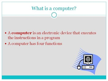Computer Applications Introduction PowerPoint, Notes & Activity