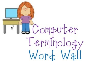 Computer Applications Vocabulary Word Wall