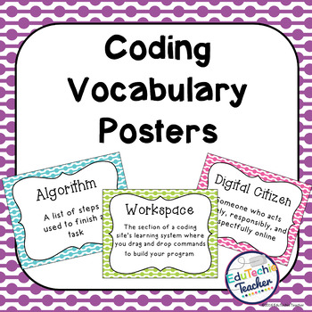 Hour of Code: Coding Vocabulary Posters {45 Coding Vocabul
