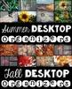 Computer Desktop Organizers - Seasons Bundle - Editable