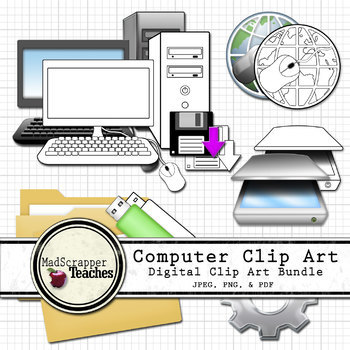Computer Icons Digital Clipart Bundle Color and Black White