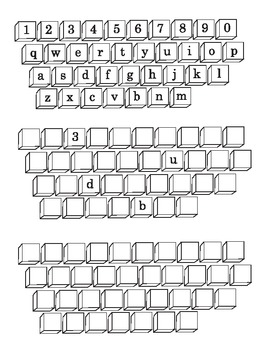 Computer  Keyboard Fill In pages