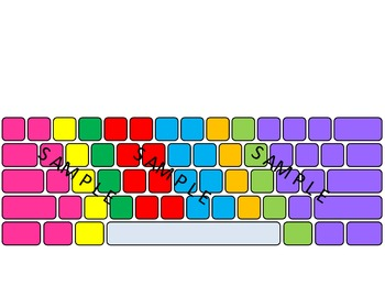 Computer Keyboard and Keypad color-coded * blank*