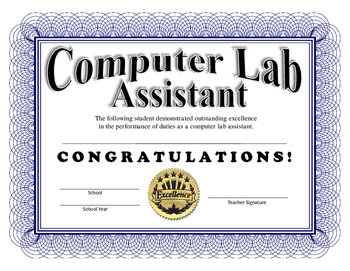 Computer Lab Assistant Certificate