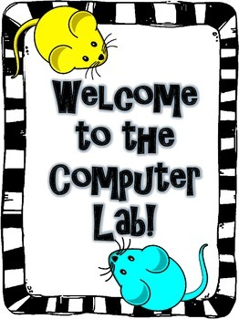 Computer Lab Welcome Poster (Free)
