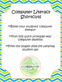 Computer Literacy Shortcuts Poster and Printable
