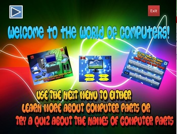Computer Parts Lesson and Quiz