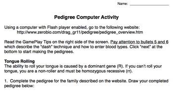 Computer Pedigree Activity