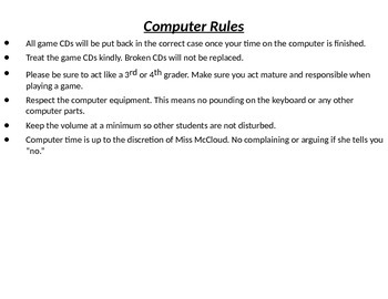 Computer Rules