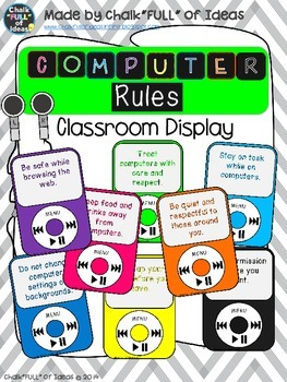 Computer Rules Classroom Display {IPod Themed}