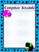 Computer Schedule Poster with Mouse Theme