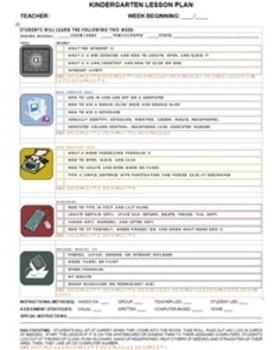Computer Skills Lesson Plan Checklist- Kindergarten