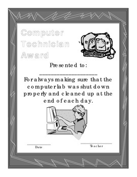 Computer Technician of the Month Award