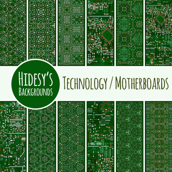 Computer Technology / Circuit Board / Motherboard Backgrou