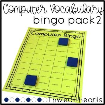 Computer Vocabulary Bingo Game - Version 2