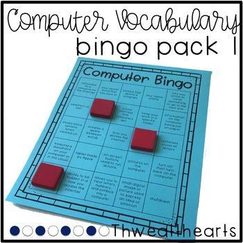 Computer Vocabulary Bingo Game #1