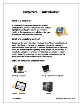 Computers Introduction - Upper Elemetary
