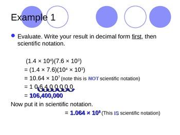 Computing with Scientifc Notation
