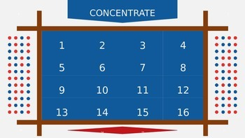 Concentrate - Played like the game show Concentration