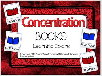 Concentration Books Learning Colors