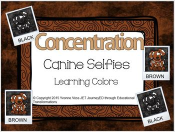 Concentration Canine Selfies Learning Colors
