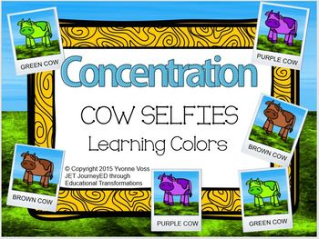 Concentration Cow Selfies Learning Colors