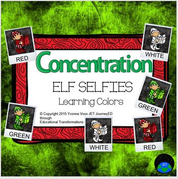 Concentration Elf Selfies Learning Colors