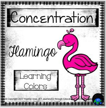 Concentration Flamingo Learning Colors